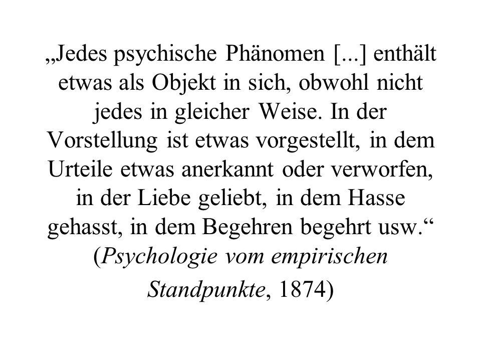 """""""Jedes psychische Phänomen ["""